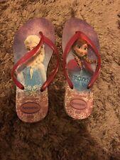 Ladies Frozen Pink Havaianas Flip Flops Size 3