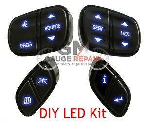 GM Steering Wheel Controls Switches Bulb to Blue LED Upgrade Kit Easy DIY 03-06