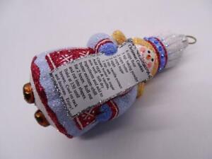 Patricia Breen Designer Glass Christmas Ornament Caroler Cookie Recipe Figural