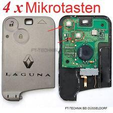 4x Renault Laguna 2 Megane Espace Kart Schlüssel Fernbedienung Reparatur Taste