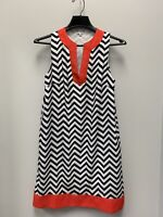 Ladies Size Small Mud Pie Red Black white Chevron Dress Game day