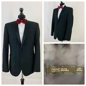 Tuxedo Dinner Suit Jacket Next Mens Chest 38 Black Formal Cruise Prom  P62