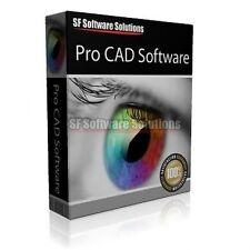 Pro CAD Computer Aided Design Suite Para Pc Cd. apoya 2D, 3D, animación y más