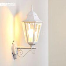 weiße Außen Wand Beleuchtung Glas Hof Veranda Terrassen Garten Lampen klassisch