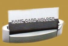 NEW Stainless Steel  Desktop Business  Card Holder In Box