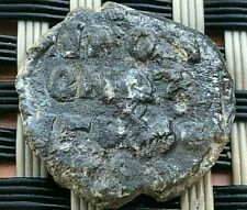 ANCIENT BYZANTINE MEDIEVAL LEAD SEAL WITH INSCRIPTIONS AND CROSS VERY RARE