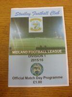 25/08/2015 Studley v Southam United  . Footy Progs/Bobfrankandelvis, experienced
