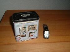 FOSSIL FS 2664 Armbanduhr Damen Lederarmband schwarz mit original Blechdose