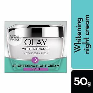 Olay White Radiance Advanced Night Essence Skin Cream Moisturizer, 50g U.K