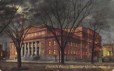 Columbus Ohio c1910 Postcard Franklin County Memorial Hall