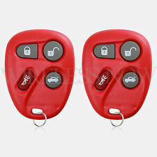 2 Car Fob Keyless Entry Remote Red For 2001 2002 2003 2004 Chevrolet Corvette
