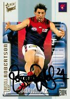 ✺Signed✺ 2004 MELBOURNE DEMONS AFL Card RUSSELL RICHARDSON