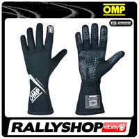 FIA OMP FIRST-S RACE first s Karthandschuh Handschuhe Professionell Schwarz