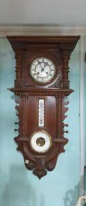 Reloj de pared Aleman con termometro y barometro Cod 129