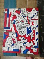 Peinture  HUILE SUR TOILE  SIGNEE CHARLES LAPICQUE  GROSSE COTE