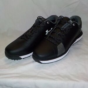 Under Armour FADE RST 3 Golf Spikes BLACK WHITE 3023330 001 Men Size 7.5