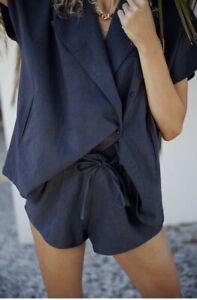 Maurie And Eve Co-ord Hemp Shorts Kimono Shirt Set BNWT £200 UK10