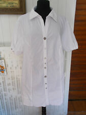Chemisier long blanc stretch SAMOON by Gerry Weber 50/52F 22/24UK 18/20US