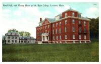 Early 1900s Rand Hall and Cheney House, Bates College, Lewiston, Maine Postcard