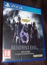 Resident Evil 6 HD Remake Playstation 4 PS4 NEW SEALED FREE UK p&p Delivery