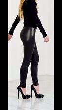 Jimmy Choo Real Leather Leggings Uk 14 Skinny Trousers Rare