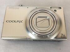 Nikon COOLPIX S6100 16.0MP Digital Camera Silver Good Battery-Parts or Repair