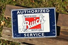 Authorized Buick Service Embossed Tin Metal Sign - Pontiac - GM - Motor Cars