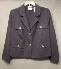 VILLAGER womens plus size 24W BLACK casual BLAZER JACKET stretch fit VGUC #3018
