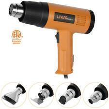 1500w Dual Temperature Heat Hot Air Gun Wind Blower Tool +4 Nozzels Power Heater