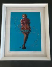 """BETTE MIDLER Signed Autographed """"Showgirl Must Go On"""" Framed Poster Ltd. Edition"""
