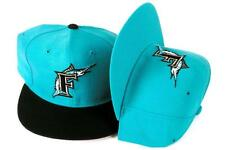 2 RETRO New Era SIZE 7 MIAMI FL Marlins PRO FIT 5950 Teal MLB Baseball Hats Caps