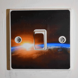Space Light Switch Sticker - Bedroom / Garage / Shed