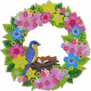 Craft Buddy Crystal Art Spring wreath