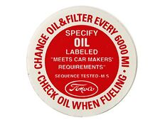 Mustang Oil Filler Cap Decal 1964 1/2 - 1966 - Osborn Reproductions