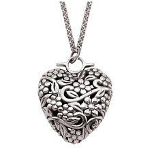 PERSONA Sterling Silver Bead Charm Heart 30 inch Necklace H11884P1