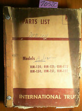 IH International Truck A-100 - A-180 Series Parts List Manual MT-104 Rev 9 8/59