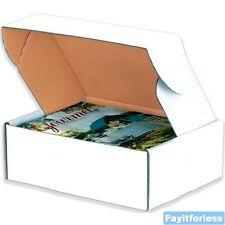 """17.5"""" x 12.75"""" x 3.25""""  White Heavy Duty Literature Corrugated Boxes 50 Pc"""