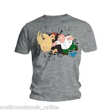 FAMILY GUY Chicken Fight GREY MENS TSHIRT ONE SIZE NEW OFFICAL