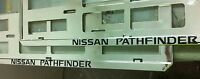 2 X NISSAN PATHFINDER EUROPEAN LICENSE NUMBER PLATE SURROUND FRAME HOLDER