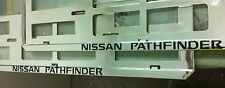 2 X NISSAN PATHFINDER EUROPEAN LICENSE NUMBER PLATE SURROUND FRAME HOLDER