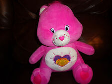 "12"" Nanco Sitting Magenta Pink Care Bear Sunshine Plush Soft Toy Stuffed Animal"