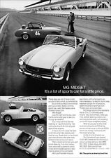 MG Midget Retro Poster a 3 Print From Classic 70 S Advert