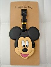 HOT Mickey Mouse Face PVC Luggage Labels Tags Travel Baggage Tag