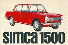 Catalogue SIMCA 1500 SIMCA 1300 katalog  automobilia propekt brochure