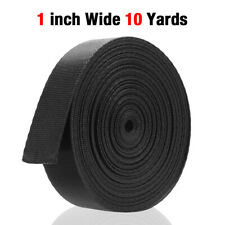 1 Inch Wide 10 Yards Black Nylon Heavy Webbing Strap Usa Free Shipping New