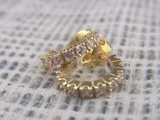schöne Ohrstecker Silber 925/- vergoldet Zirkonia