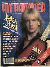 Hit Parader Magazine April 1986 Judas Priest WASP Van Halen Ratt Motley Crue
