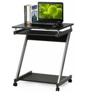 Small Computer Desk PC Table Z-Shape Study Home Office Workstation Furniture UK