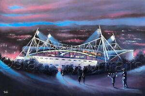 Bolton Wanderers - Floodlit Wanderers  20'' x 30'' Poster Print