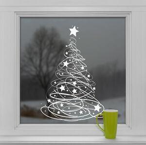 Swishy Tree Static Cling Christmas Tree Window Cling Sticker by Stickers4